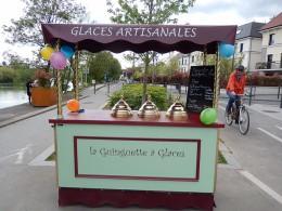 Chariot à glaces la guinguette