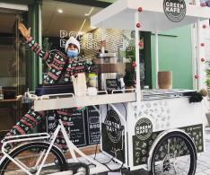 Triporteur à pokebowl et bagels - Green Kafé