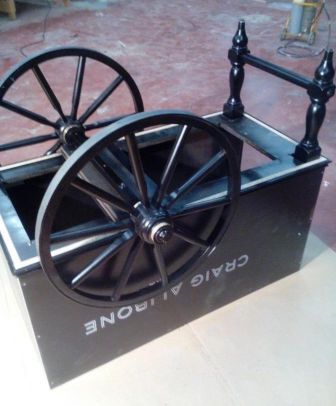 Montage des roues du chariot