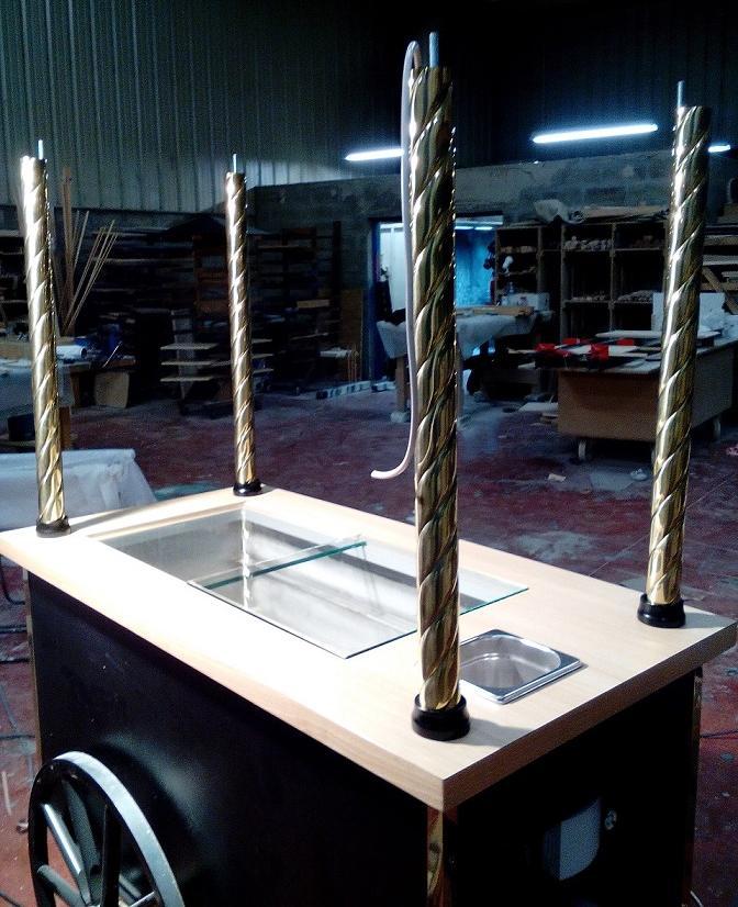 Montage des colonnes du chariot